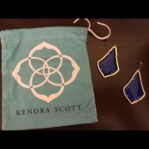 KENDRA SCOTT Addie Gold Drop Earrings Blue
